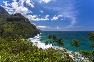 A View of the Na Pali Coast from the Kalalau Trail by Andrew Shoemaker