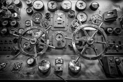 Engine Controls Aboard the Uss Midway in San Diego, Ca by Andrew Shoemaker