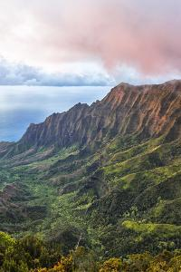 Overlooking the Kalalau Valley at Sunset by Andrew Shoemaker