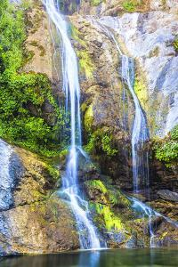 Salmon Creek Falls in the Santa Lucia Mountains of California by Andrew Shoemaker
