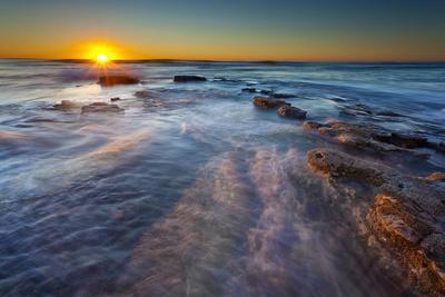Sun Rays over the Pacific Ocean Near Sunset Cliffs in San Diego, Ca