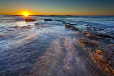 Sun Rays over the Pacific Ocean Near Sunset Cliffs in San Diego, Ca by Andrew Shoemaker