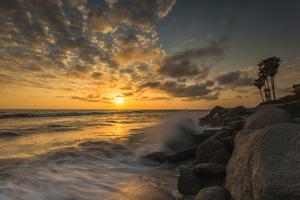 Sunset Along Tamarack Beach in Carlsbad, Ca by Andrew Shoemaker