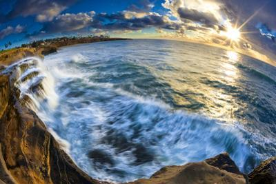 Sunset and Waves at Sunset Cliffs in San Diego, Ca by Andrew Shoemaker