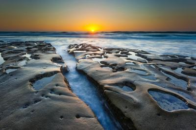 Sunset at Tide Pools in La Jolla, Ca by Andrew Shoemaker