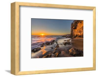 Sunset at Victoria Beach in Laguna Beach, Ca