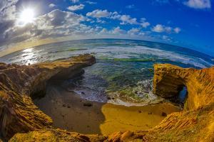 Sunset Cliffs in San Diego, Ca by Andrew Shoemaker