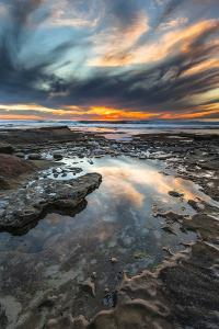 Sunset from the Tide Pools in La Jolla, Ca by Andrew Shoemaker