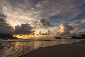 Sunset in Hanalei Bay, Kauai by Andrew Shoemaker