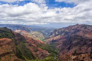 The Waimea Canyon on the Hawaiian Island of Kauai by Andrew Shoemaker