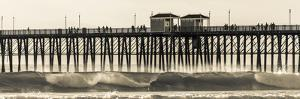 Waves at the Oceanside Pier in Oceanside, Ca by Andrew Shoemaker