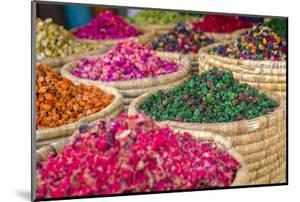 Herbs for Sale in a Stall in the Place Djemaa El Fna in the Medina of Marrakech, Morocco, Africa by Andrew Sproule