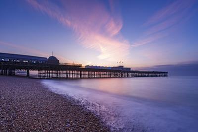 The pier at Hastings at dawn, Hastings, East Sussex, England, United Kingdom, Europe by Andrew Sproule
