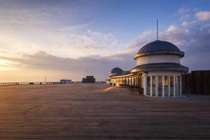 The pier at Hastings at sunrise, Hastings, East Sussex, England, United Kingdom, Europe by Andrew Sproule