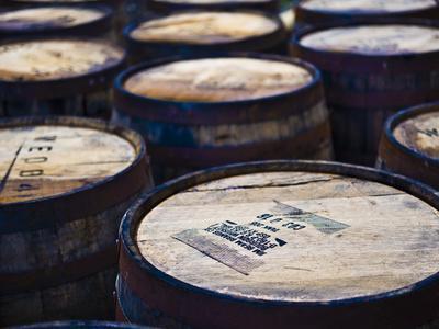Jura Whisky Distillery Barrel Storage, Jura Island, Inner Hebrides, Scotland, UK, Europe