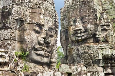 The Bayon, Angkor Thom, Angkor, UNESCO World Heritage Site, Siem Reap, Cambodia, Indochina