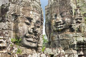 The Bayon, Angkor Thom, Angkor, UNESCO World Heritage Site, Siem Reap, Cambodia, Indochina by Andrew Stewart
