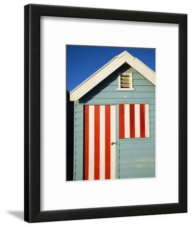 Australia, Victoria, Melbourne; Colourful Beach Hut at Brighton Beach