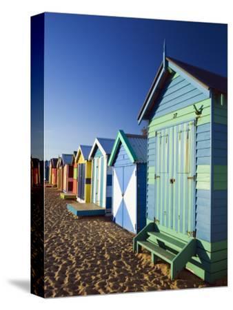 Australia, Victoria, Melbourne; Colourful Beach Huts at Brighton Beach