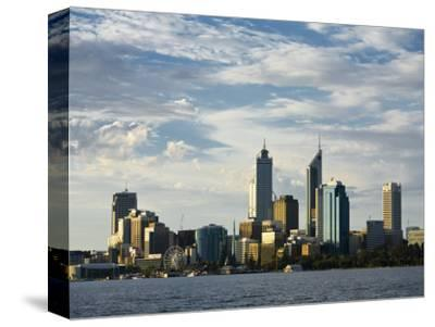 Australia, Western Australia, Perth; View across the Swan River to the City Skyline at Dusk