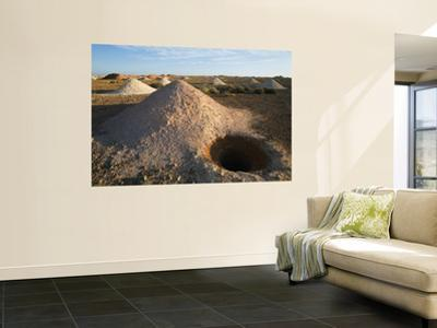 Open Mine Shaft in Opal Fields.