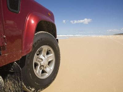Queensland, Fraser Island, Four Wheel Driving on Sand Highway of Seventy-Five Mile Beach, Australia