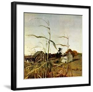 """""""Autumn Cornfield,""""October 1, 1950 by Andrew Wyeth"""