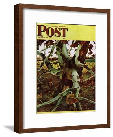 """Sycamore Tree and Hunter,"" Saturday Evening Post Cover, October 16, 1943"