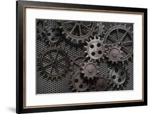 Abstract Rusty Gears Old Machine Parts by Andrey_Kuzmin