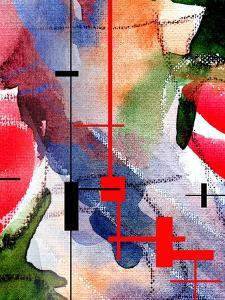 Abstract Art Collage, Mixed Media And Watercolor On Paper by Andriy Zholudyev