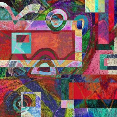 Abstract Digital Painting, Colorful Graffiti Collage by Andriy Zholudyev