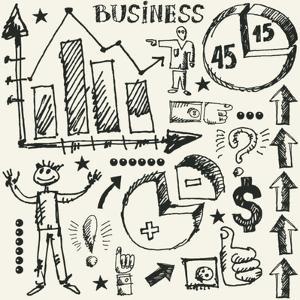 Hand Drawn Business Doodles by Andriy Zholudyev