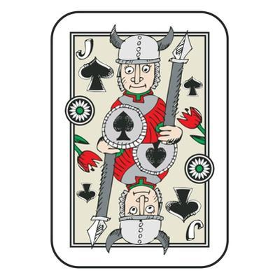 Hand Drawn Deck Of Cards, Doodle Jack Of Spades Isolated On White Background by Andriy Zholudyev