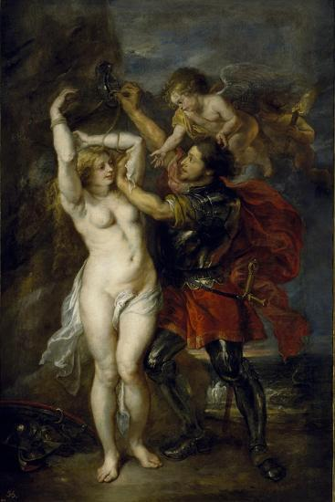 Andromeda Freed by Perseus, 1641-1642-Peter Paul Rubens-Giclee Print