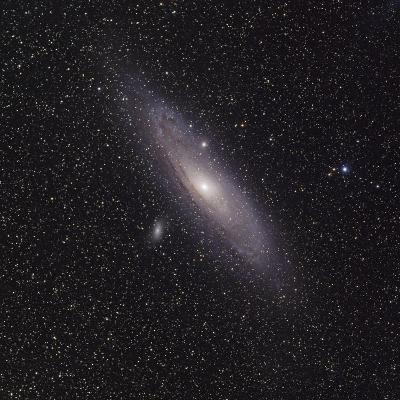 Andromeda Galaxy (M31) with Satellite Galaxies Messier 110 and Messier 32-Stocktrek Images-Photographic Print