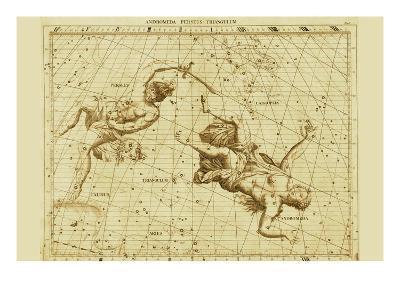 Andromeda Perseus Triangulum-Sir John Flamsteed-Art Print