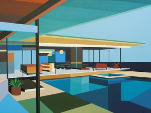 Modernist - Stahl House XI by Andy Burgess