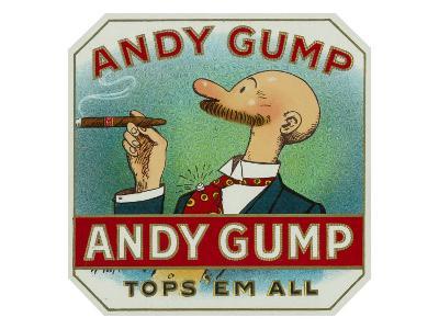 Andy Gump Brand Cigar Box Label-Lantern Press-Art Print