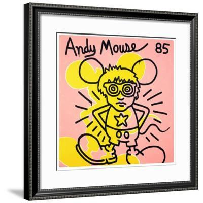 Andy Mouse 1985-Keith Haring-Framed Giclee Print