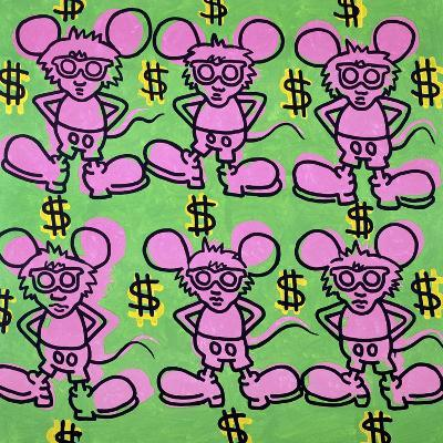 Andy Mouse 1985-Keith Haring-Giclee Print