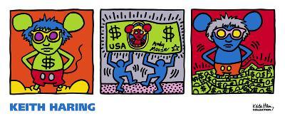Andy Mouse, 1986-Keith Haring-Art Print