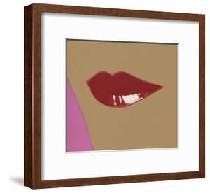 1 page from Lips Book, c. 1975 by Andy Warhol