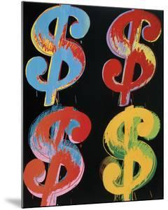 $4, 1982 (blue, red, orange, yellow) by Andy Warhol