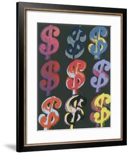 $9, 1982 (on black) by Andy Warhol