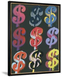$9, c.1982 (on black) by Andy Warhol