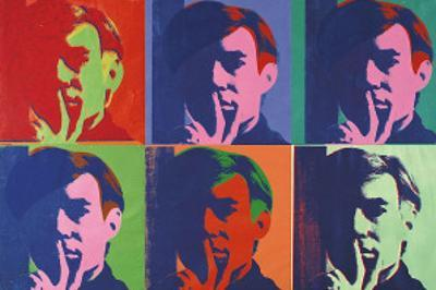 A Set of Six Self-Portraits, c.1967 by Andy Warhol