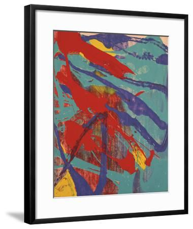 Abstract Painting, c. 1982 (Aqua, Red, Indigo, Yellow)