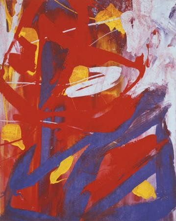 Abstract Painting, c. 1982 (Indigo, Red, White) by Andy Warhol