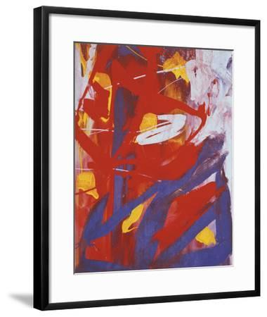 Abstract Painting, c. 1982 (Indigo, Red, White)
