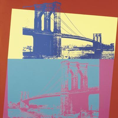 Brooklyn Bridge, 1983 (blue bridge/yellow background)